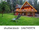wooden shelter in the forest of ... | Shutterstock . vector #146745974