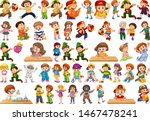 kids in large group acting our...   Shutterstock .eps vector #1467478241