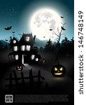 halloween night   vector poster | Shutterstock .eps vector #146748149