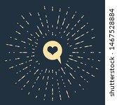 beige heart in speech bubble... | Shutterstock .eps vector #1467528884
