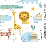seamless childish pattern with... | Shutterstock .eps vector #1467571727