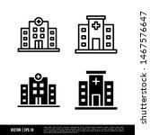 the best hospital icons vector... | Shutterstock .eps vector #1467576647