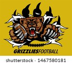 Grizzlies Football Mascot...