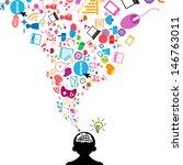 social network light bulb idea... | Shutterstock .eps vector #146763011