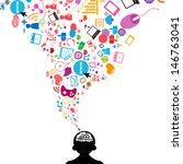 social network light bulb idea... | Shutterstock .eps vector #146763041