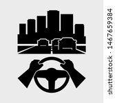 car driving vector icon. hands... | Shutterstock .eps vector #1467659384