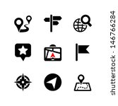 set of 9 web icons. location ... | Shutterstock .eps vector #146766284