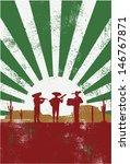 mexican musician poster  vector | Shutterstock .eps vector #146767871