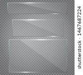 glass plates set. set of glass...   Shutterstock .eps vector #1467687224
