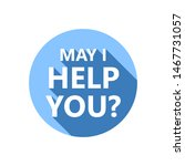may i help you  sticker with...   Shutterstock .eps vector #1467731057