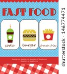fast food card design. vector... | Shutterstock .eps vector #146774471