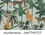 tropical seamless pattern with... | Shutterstock .eps vector #1467745727