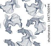 Seamless Goldfish Pattern  ...