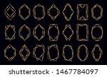 glowing golden polygonal frames ...   Shutterstock .eps vector #1467784097