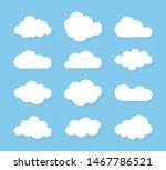 set of blue sky  clouds. cloud... | Shutterstock .eps vector #1467786521