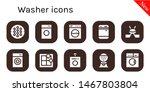 washer icon set. 10 filled... | Shutterstock .eps vector #1467803804