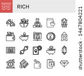 set of rich icons such as chest ... | Shutterstock .eps vector #1467804221