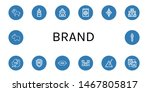 set of brand icons such as lion ... | Shutterstock .eps vector #1467805817