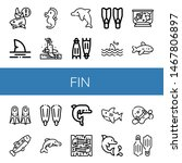 set of fin icons such as shark  ... | Shutterstock .eps vector #1467806897