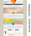website page with short news.... | Shutterstock .eps vector #146783861