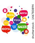 sales shopping icons.  colorful ... | Shutterstock . vector #146783894