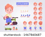 Happy Little Kid Character Wit...