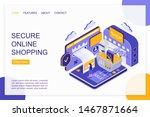 secure online shopping... | Shutterstock .eps vector #1467871664