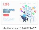 programming process landing... | Shutterstock .eps vector #1467871667