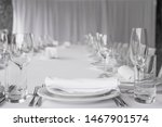 white banquet table setting.... | Shutterstock . vector #1467901574