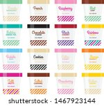 various ice cream flavours in...   Shutterstock .eps vector #1467923144