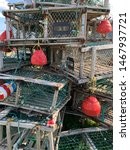 Stack Of Crab Traps And Red...