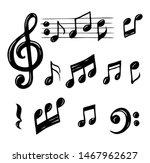 vector set of hand drawn music...   Shutterstock .eps vector #1467962627