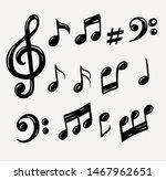 vector set of hand drawn music... | Shutterstock .eps vector #1467962651