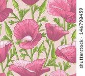 seamless floral pattern | Shutterstock .eps vector #146798459