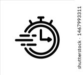 clock icon. symbol of time with ...