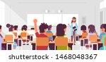 pupils group listening to... | Shutterstock .eps vector #1468048367