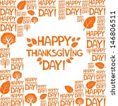 happy thanksgiving day  ... | Shutterstock . vector #146806511