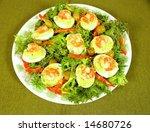 Shrimp Filled Devilled Eggs
