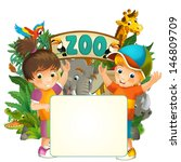 cartoon zoo and children  ... | Shutterstock . vector #146809709