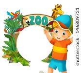 cartoon zoo and children  ... | Shutterstock . vector #146809721