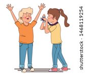 teenager friends smiling and... | Shutterstock .eps vector #1468119254