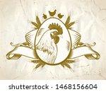 hen or rooster symbol  old...   Shutterstock .eps vector #1468156604