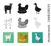 isolated object of breeding and ... | Shutterstock .eps vector #1468158191