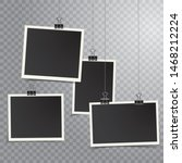 four square vector photo frames ... | Shutterstock .eps vector #1468212224