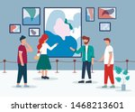 man woman in contemporary art... | Shutterstock .eps vector #1468213601