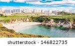 view of beach in la coruna ...   Shutterstock . vector #146822735