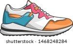 shoes men footwear sneaker...   Shutterstock .eps vector #1468248284