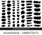 set of black paint  ink brush... | Shutterstock .eps vector #1468273271