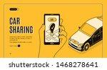 car sharing service isometric... | Shutterstock .eps vector #1468278641