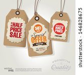 vintage style sale tags design | Shutterstock .eps vector #146828675